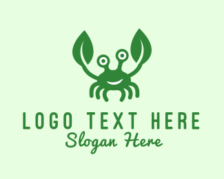 Crab - Green Crab logo design