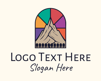 Scenic - Stained Glass Mountain  logo design