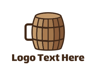 Brewing - Barrel Cup logo design