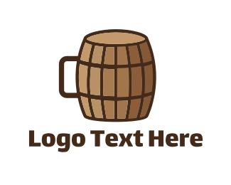 Brew - Barrel Cup logo design