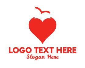 Free - Bird Heart logo design