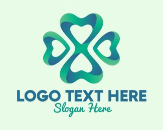 Spa - Fancy 3D Clover  logo design