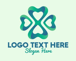 Heart - Fancy 3D Clover  logo design