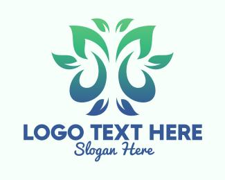 Tea Leaves - Green Environment Leaves logo design
