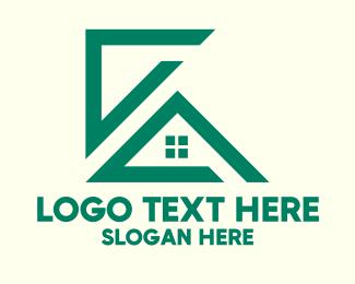 Framing - Green House Construction logo design