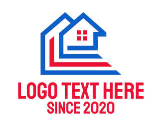Structure - Patriotic House Structure  logo design