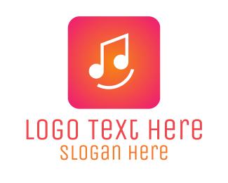 App Store - Pink Music App logo design