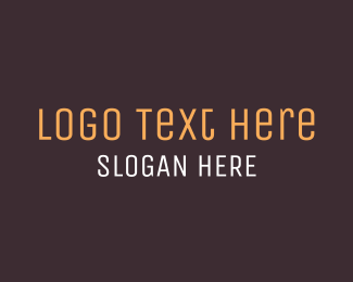 White And Brown - Brown Wordmark Text logo design