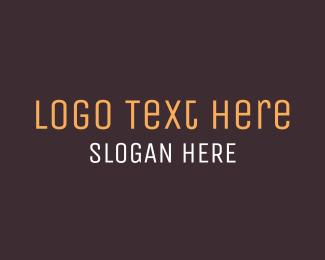 Serious - Brown Wordmark logo design