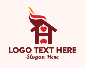Parking - Love Hotel Letter H logo design