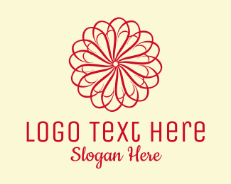 Beauty Products - Red Flower Beauty  logo design