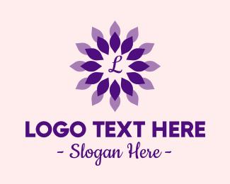 Petals - Purple Petals Lettermark logo design