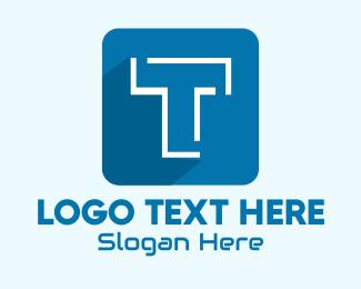 Computer Programming - Mobile App Letter T logo design