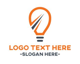 Innovative - Fast Light Bulb logo design