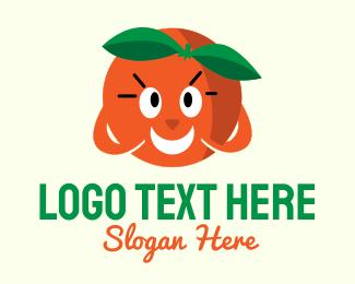 Nutritious - Happy Orange Mascot logo design