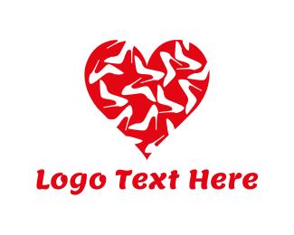 Shoe - Shoe Heart logo design