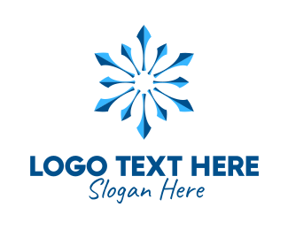 Seasonal - Snowflake Business Pattern  logo design
