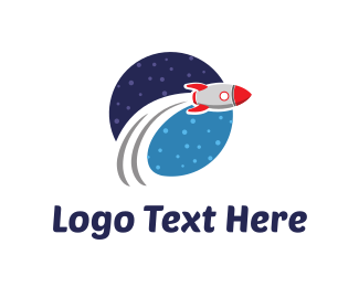 Launching - Space Rocket logo design