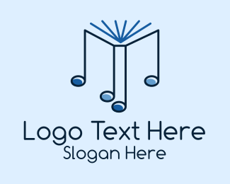 Music Licensing - Blue Musical Notes  logo design