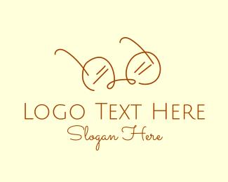 Simplistic - Brown Minimalist Eyeglass logo design