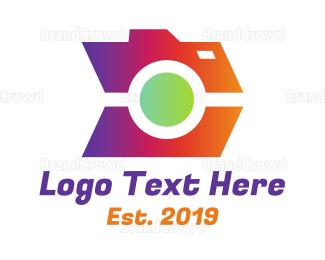 Electronics Boutique - Fast Gradient Camera logo design