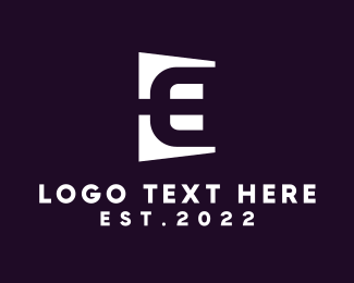 Conglomerate - Golden Letter E logo design