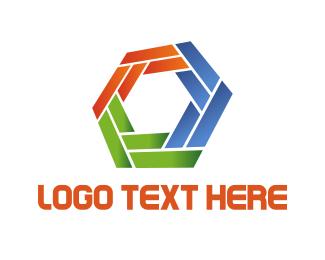 Geometry - Colorful Hexagon logo design