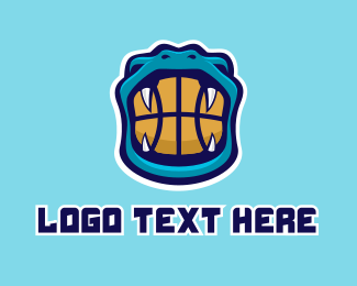 Basketball Coach - Snake Basketball Mascot  logo design
