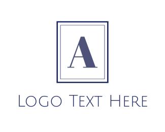 Sophisticated - Blue A Monogram logo design