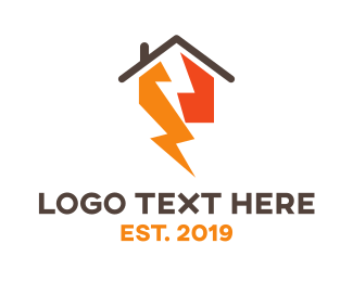 Lightning - Thunder House logo design
