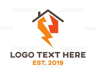 Interior Designer - Thunder House logo design