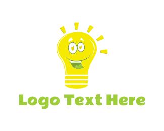 Joy - Happy Bulb logo design