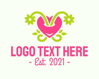Planting - Love Plant logo design