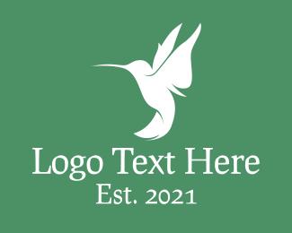 Hummingbird - White Hummingbird logo design