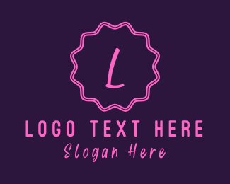 Stamp - Cute W Emblem logo design