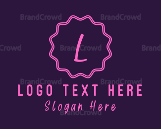 Cupcake - Cute W Emblem logo design