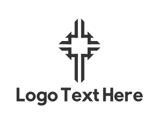 Grunge - Black Cross logo design