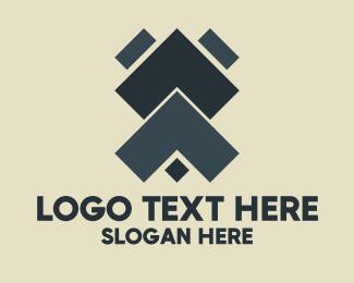 Construction Firm - Symmetrical Geometric Tech logo design