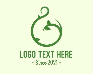 Vines - Green Vine Letter G logo design