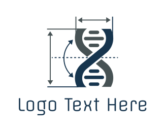 Dna - Gene Metrics logo design