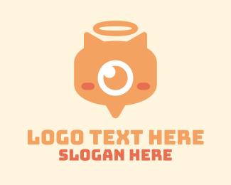 Toys - Orange Monster Eye logo design