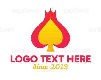Card Game - King Spade Emblem logo design