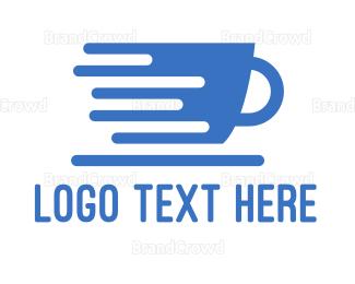 Barista - Blue Express Cup logo design