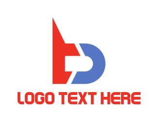 Web Developer - Futuristic B logo design
