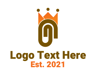 Office Supplies - Paper Clip King logo design
