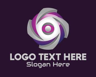 Online Game - 3D Cyber Sphere logo design