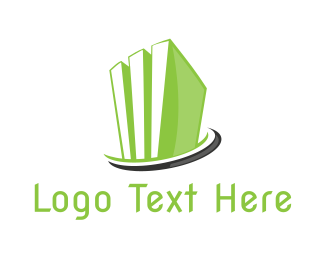 Green City - Green Abstract Building logo design