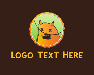 Chocolate - Orange Monster Cartoon logo design