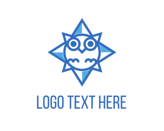 Guide - Blue Owl Star logo design