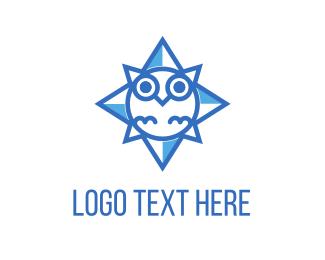 Beak - Blue Owl Star logo design
